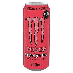 Monster Pipeline Punch Energy Drink 12 x 500ml PM £1.45