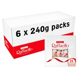 Confetteria Raffaello Coconut and Almond Pralines Gift Box 24 Pieces 240g