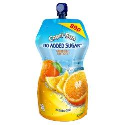 Capri-Sun No Added Sugar Orange and Lemon 330ml PMP 89p
