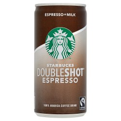 Starbucks Fairtrade DoubleShot Espresso Premium Coffee Drink 200ml