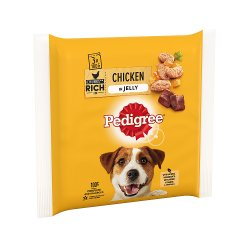 Pedigree Wet Dog Food Pouches Chicken in Jelly 3 x 100g