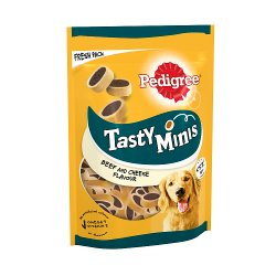 Pedigree Tasty Minis Adult Dog Treats Cheesy Nibbles with Cheese and Beef 140g