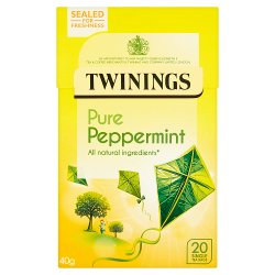 Twinings Pure Peppermint 20 Single Tea Bags 40g