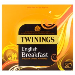 Twinings English Breakfast 50 Envelopes 100g