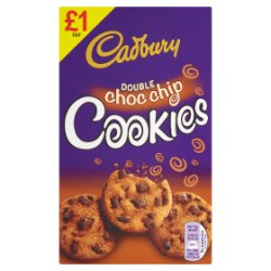 Cadbury Double Choc Chip Cookies 150g