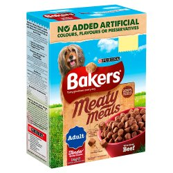 BAKERS® Meaty Meals Adult Beef 1kg PMP