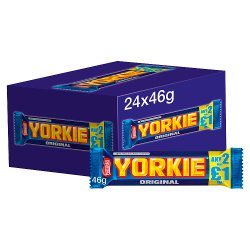 Yorkie Milk Chocolate Bar 46g 2 for £1