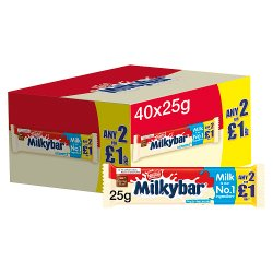 Milkybar White Chocolate 2For£1 Medium Bar 25g