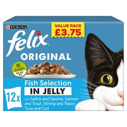 FELIX Fish Selection Wet Cat Food 12 x 100g PMP