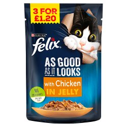 FELIX AS GOOD AS IT LOOKS with Chicken in Jelly Cat Food 100g