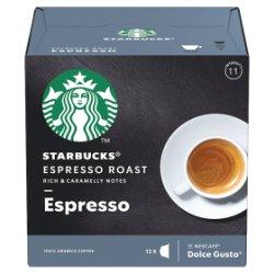 STARBUCKS by NESCAFÉ DOLCE GUSTO Espresso Dark Roast Coffee Pods, Box of 12, 66g