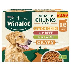WINALOT Dog Food Pouches Mixed in Gravy 12 x 100g PMP