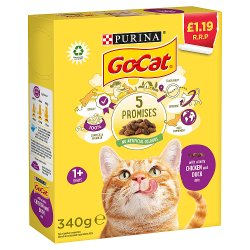 GO-CAT with Chicken and Duck mix Dry Cat Food 340g PMP