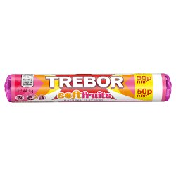 Trebor Softfruits 50p Sweets Roll 44.9g