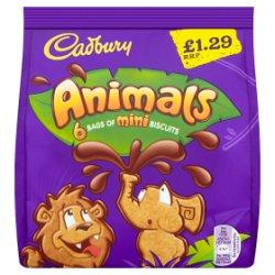 Cadbury Animals Mini Biscuits £1.29 6 Pack 132g