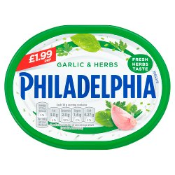 Philadelphia Garlic & Herbs Soft White Cheese £1.99 170g