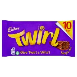Cadbury Twirl Chocolate Bar 10 Pack 215g