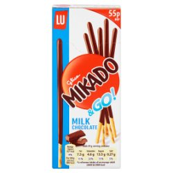 Mikado Milk Chocolate Biscuits 55p 39g