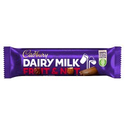 Cadbury Dairy Milk Fruit and Nut Chocolate Bar 49g