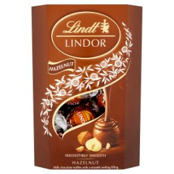 Lindt Lindor Hazelnut Chocolate Truffles Box 200g