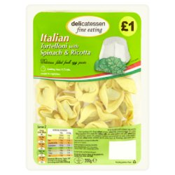 Delicatessen Fine Eating Italian Tortelloni with Spinach & Ricotta 200g