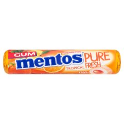 Mentos Gum Pure Fresh Tropical 8 Pieces 15g