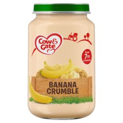 Cow & Gate Banana Crumble Jar 200g