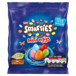 Smarties Milk Chocolate Mini Eggs Pouch 80g