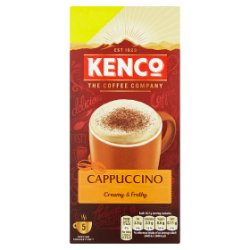 Kenco Cappuccino Instant Coffee £1.50 PMP Sachets x5