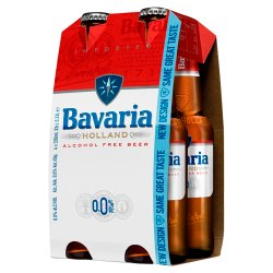 Bavaria 0.0% Original Alcohol Free Beer 4 x 330ml