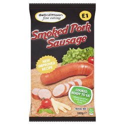 Delicatessen Fine Eating Smoked Pork Sausage 180g