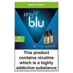 blu® myblu® Liquidpods Green Apple 9mg/ml 2 x 1.5ml