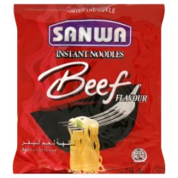 Sanwa Oriental Style Instant Noodles Beef Flavour 85g