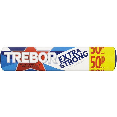Trebor Extra Strong Spearmint 50p Mints Roll 41.3g