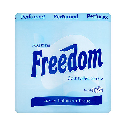 Freedom Soft Toilet Tissue Perfumed Pure White 4 Rolls