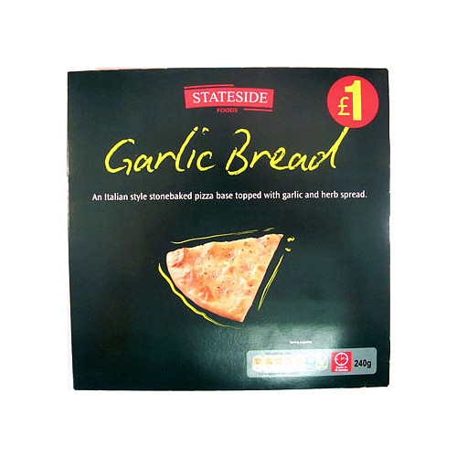 Stateside Foods Garlic Bread Italian Style Stonebaked Pizza 240g