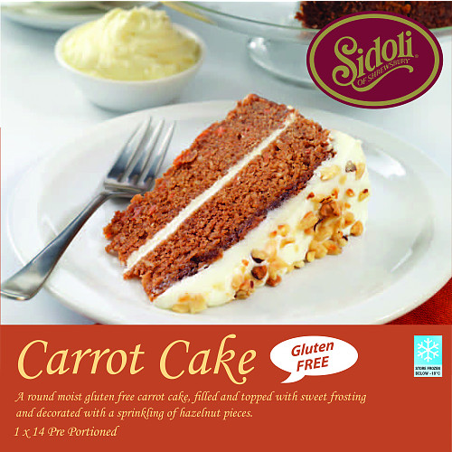 Sidoli of Shrewsbury Carrot Cake 1.700kg