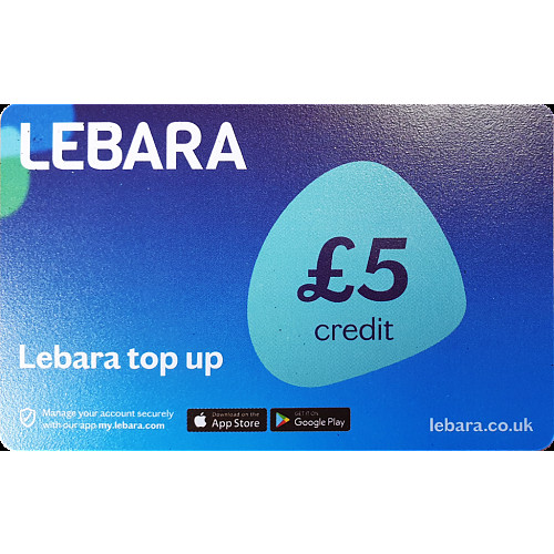 Lebara Top Up Voucher £5