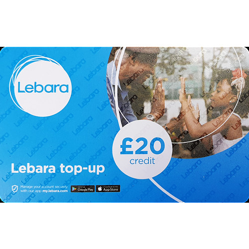 Lebara Top Up Voucher £20