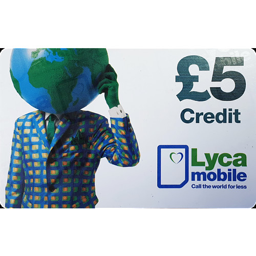 Lyca Top Up Voucher £5