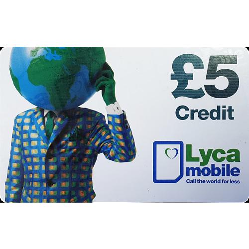 Lyca Top Up Voucher £5
