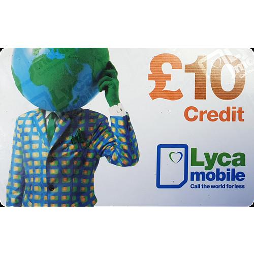 Lyca Top Up Voucher £10
