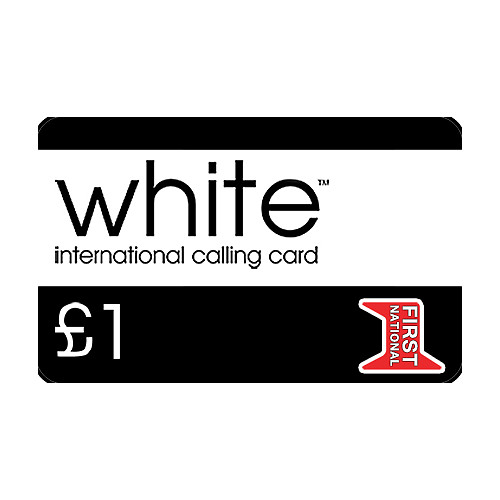 White £1 Phone Card