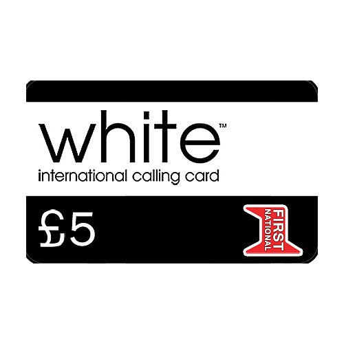 White £5 Phone Card
