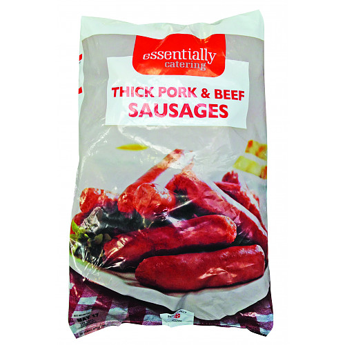 Essentially Catering Thick Pork & Beef Sausage