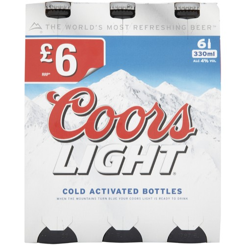 Coors Light 6 x 330ml