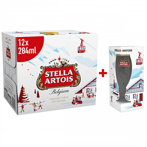 Stella Artois Lager Beer Bottles 12 x 284ml
