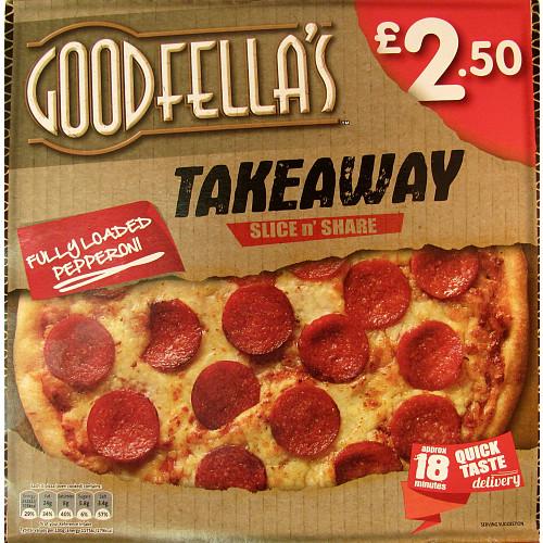 Goodfella's Takeaway Slice n' Share Fully Loaded Pepperoni 411g