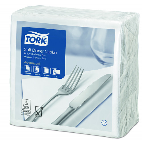 477577 Tork Soft White Dinner Napkin