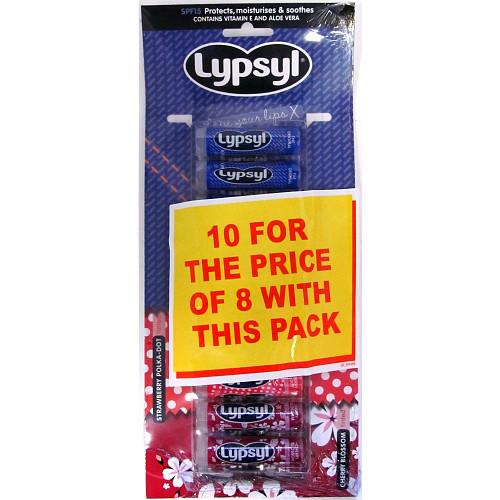 Lypsyl Hanging Card 10 For 8